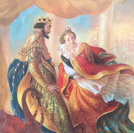 The King and Queen shielding Aurora